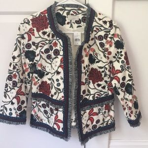 Loft jacket with floral detail